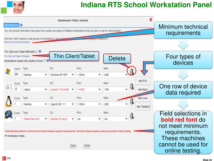 RTS Workstation Panel