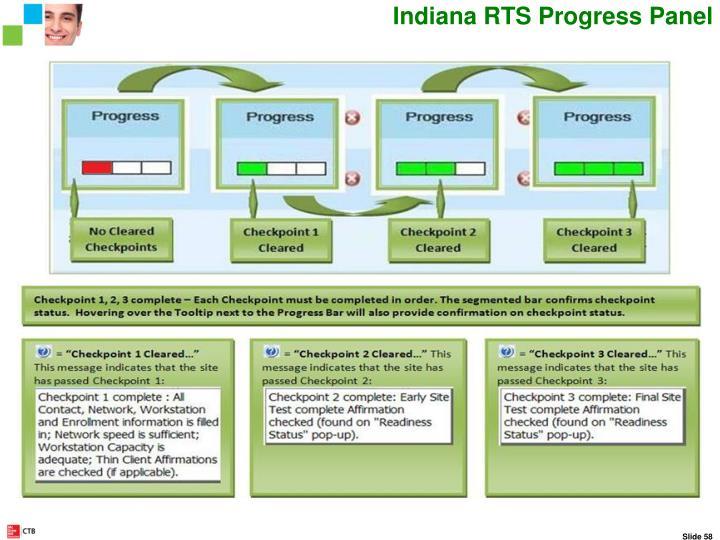 Indiana RTS Progress Panel