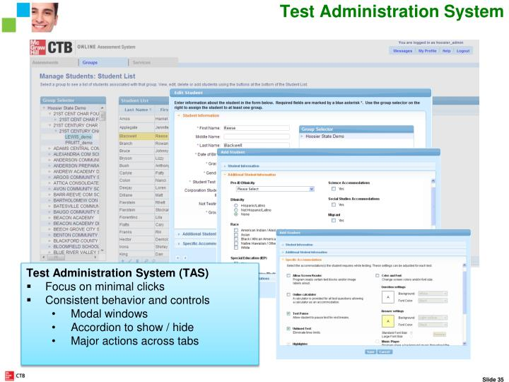 Test Administration System