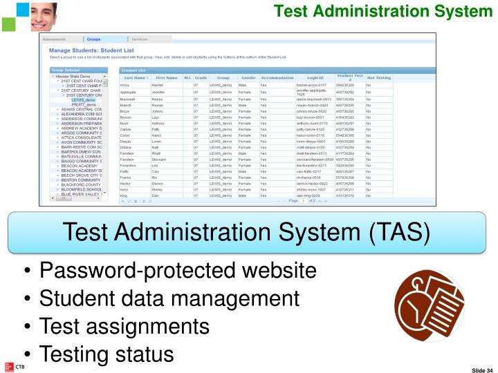 Test Administration System Website