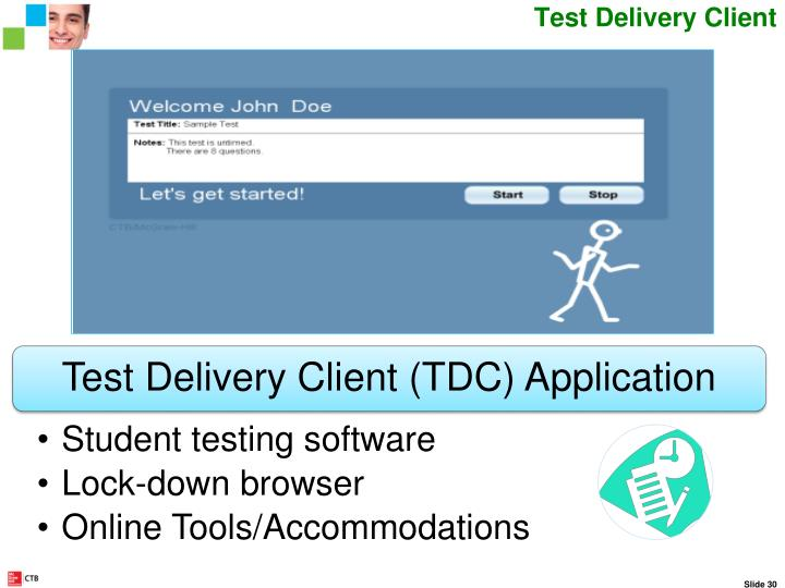 Test Delivery Client – Testing Software