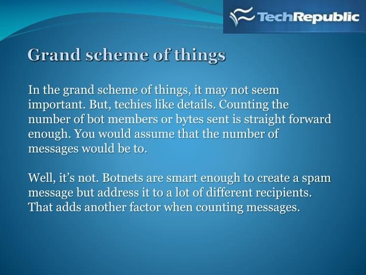 Grand scheme of things