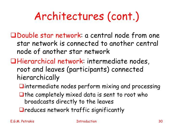 Architectures (cont.)