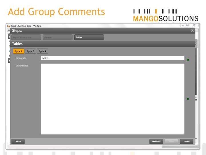 Add Group Comments