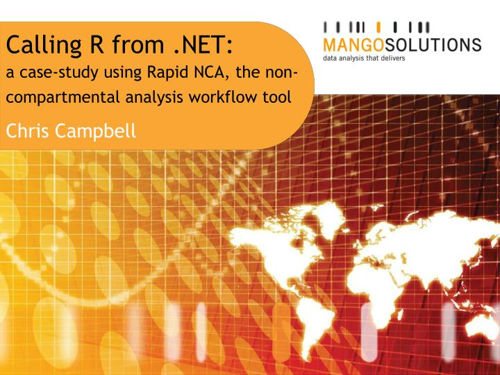 Calling r from net a case study using rapid nca the non compartmental analysis workflow tool