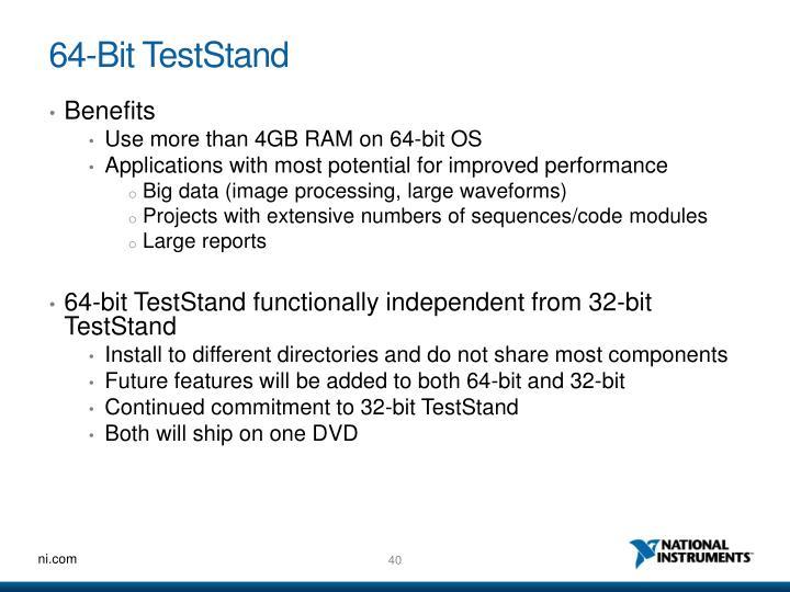 64-Bit TestStand