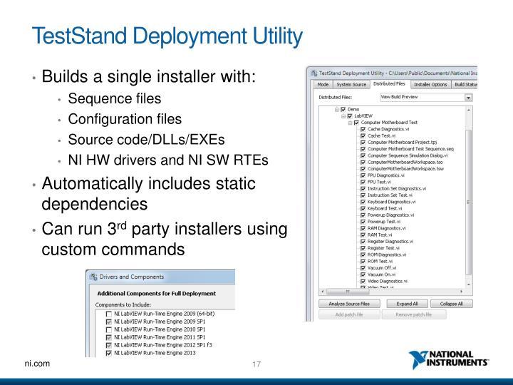 TestStand Deployment Utility