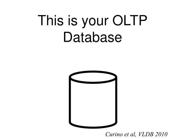 This is your OLTP Database