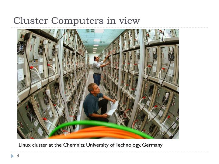 Cluster Computers in view