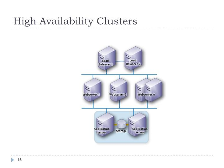High Availability Clusters