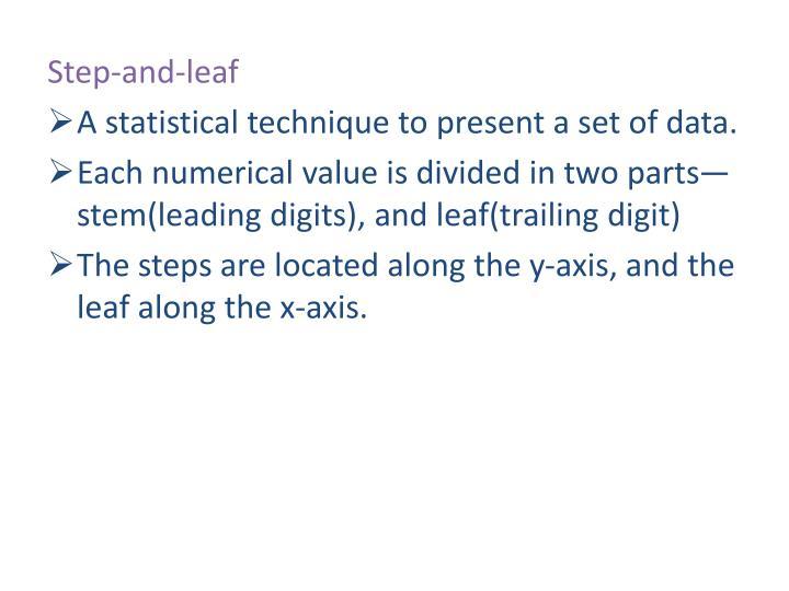 Step-and-leaf