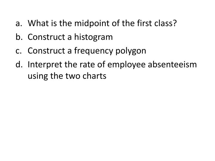 What is the midpoint of the first class?