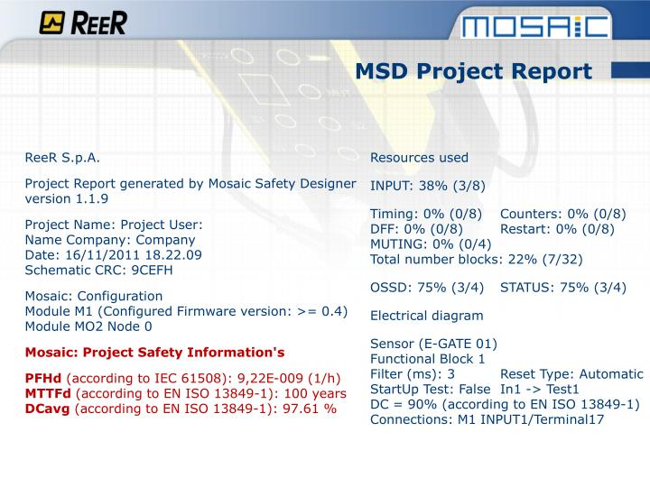 MSD Project Report