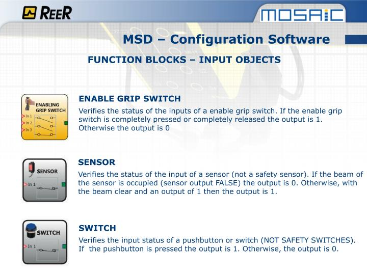 MSD – Configuration Software