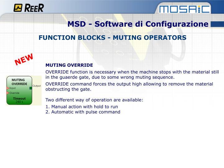 MSD - Software di Configurazione