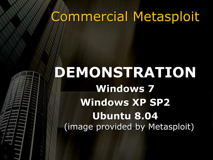 Commercial Metasploit