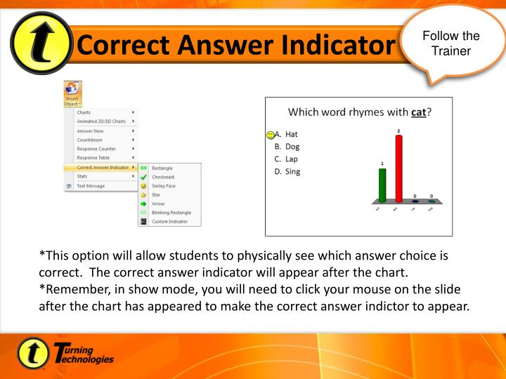 Correct Answer Indicator