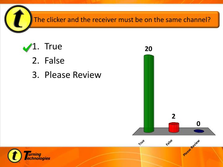 The clicker and the receiver must be on the same channel?