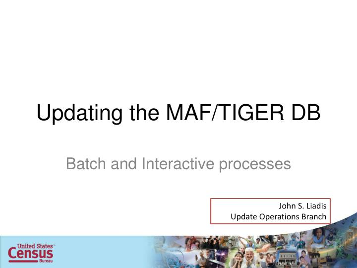 Updating the maf tiger db