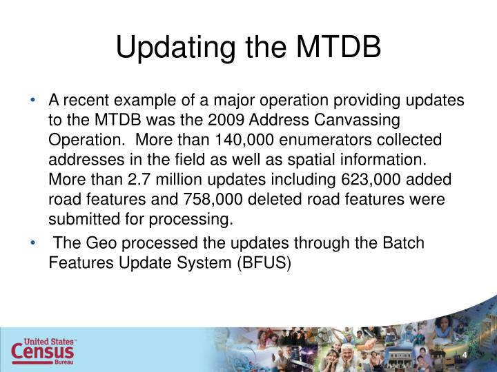 Updating the MTDB