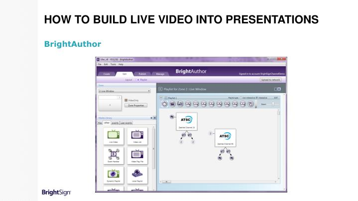 How to build Live Video into Presentations