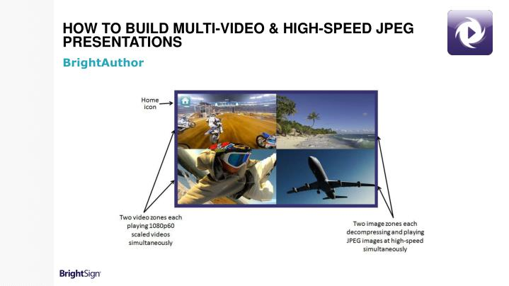 How to Build Multi-Video & High-Speed JPEG Presentations