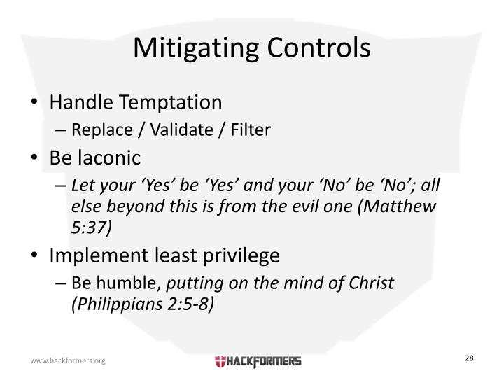 Mitigating Controls