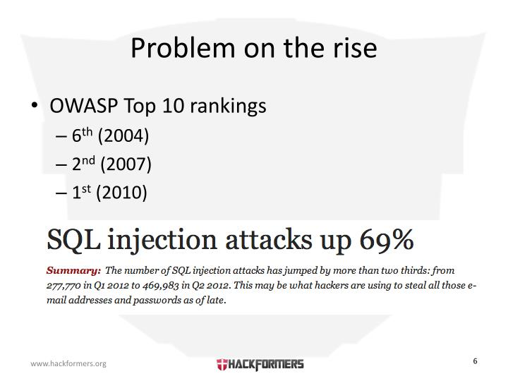 Problem on the rise