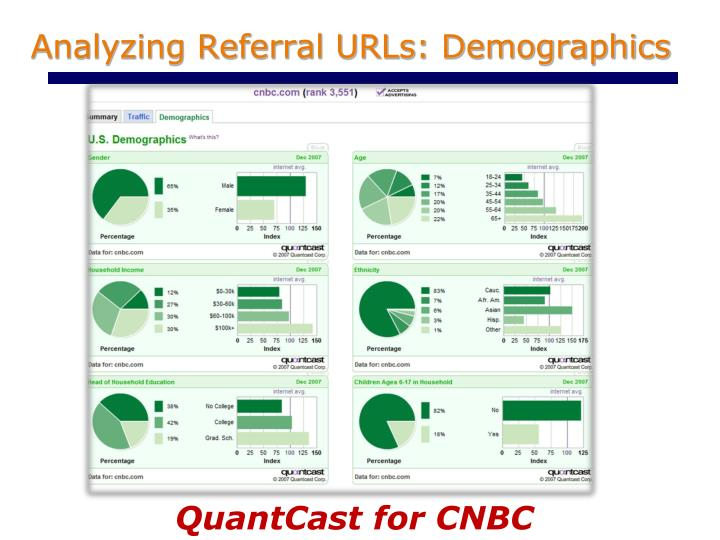 Analyzing Referral URLs: Demographics