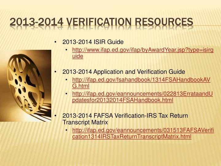 2013-2014 ISIR Guide