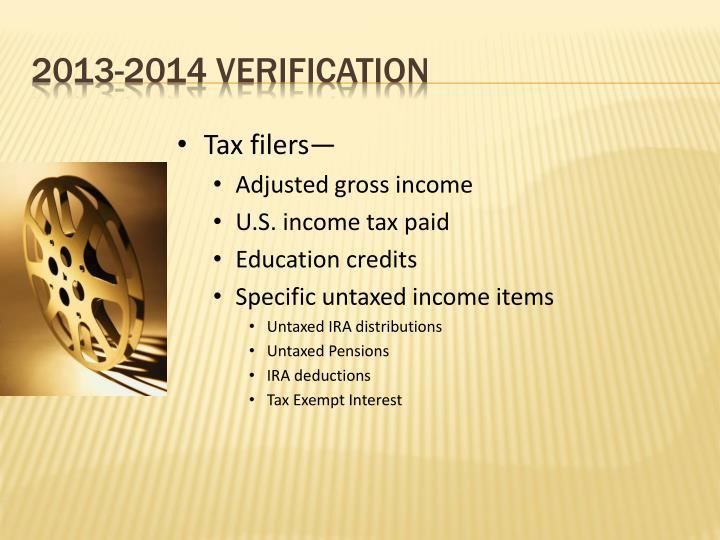 Tax filers—