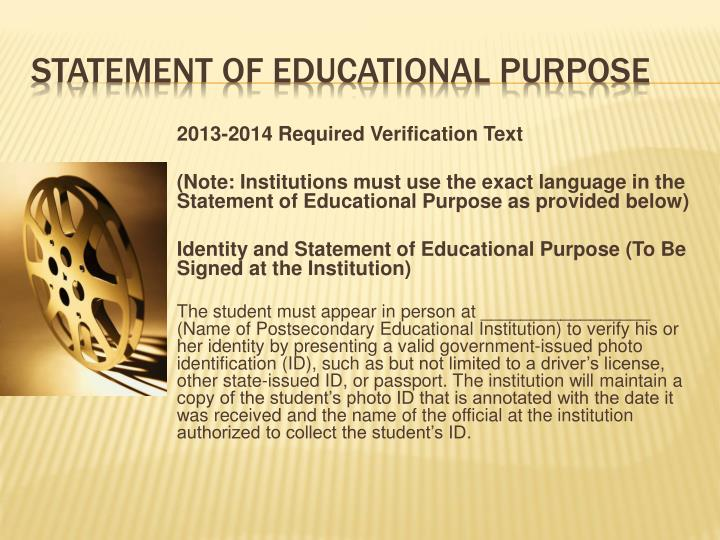2013-2014 Required Verification