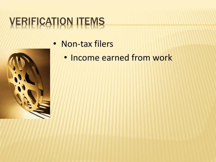 Non-tax