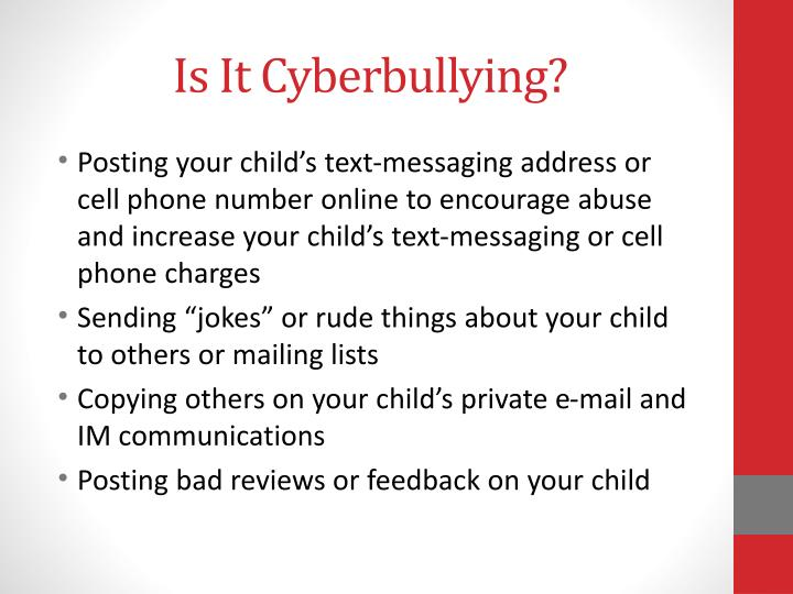 Is It Cyberbullying?