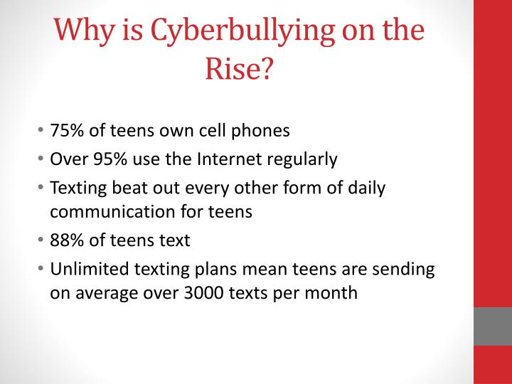 Why is Cyberbullying on the Rise?