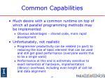 common capabilities