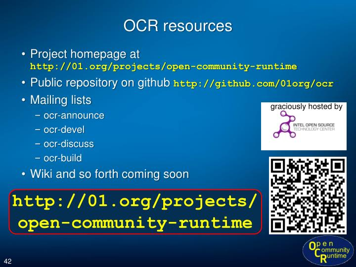 OCR resources