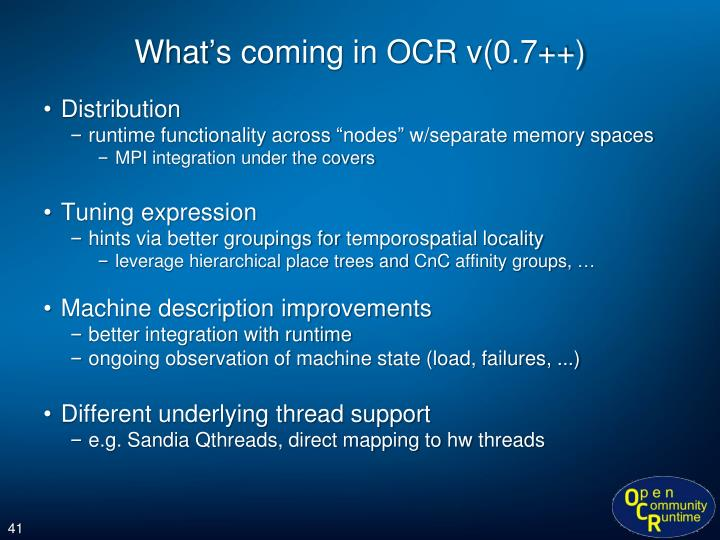What's coming in OCR v(0.7++)
