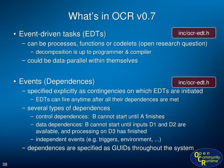 What's in OCR v0.7