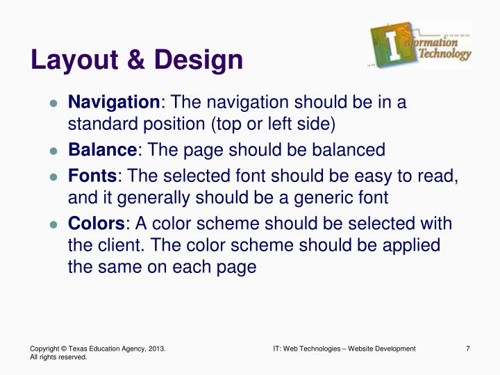 Layout & Design
