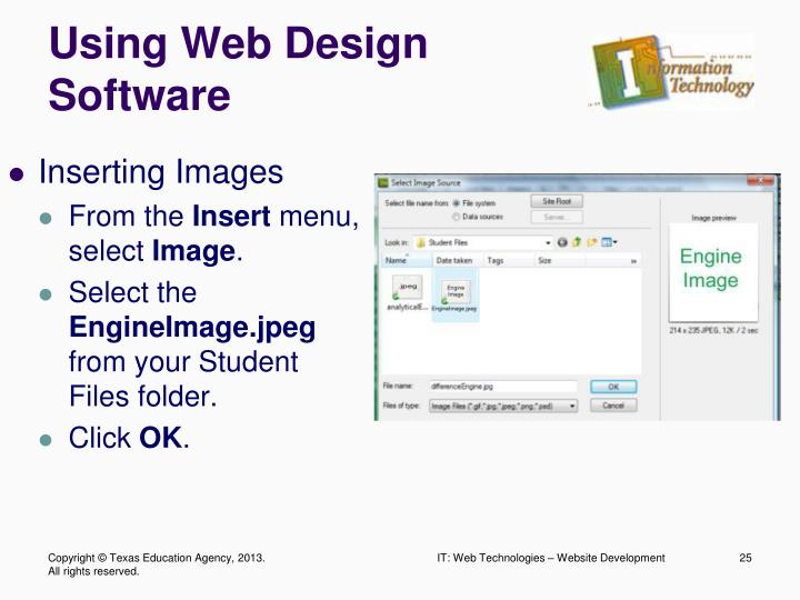 Using Web Design Software