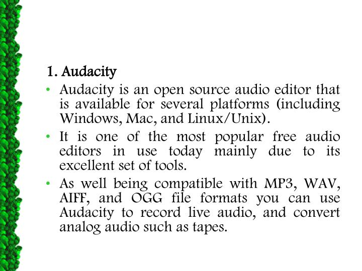 1. Audacity