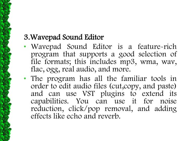 3.Wavepad Sound Editor