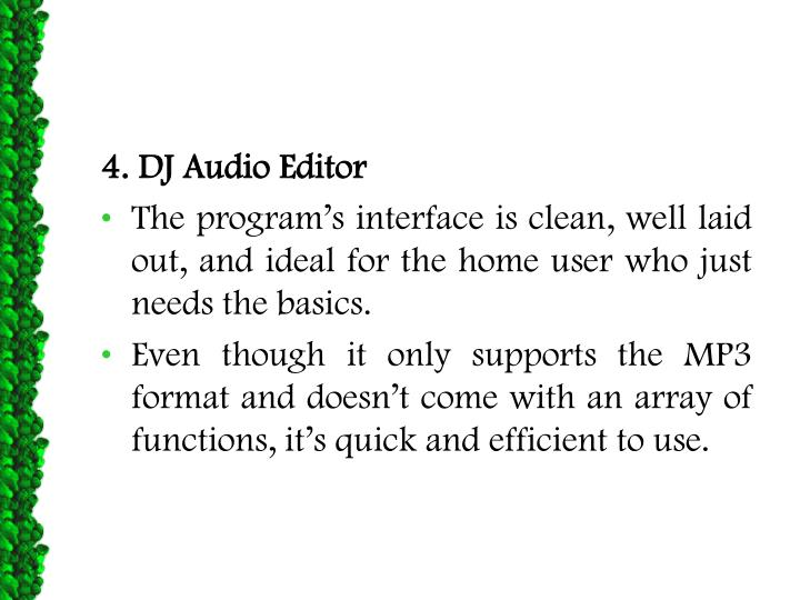 4. DJ Audio Editor