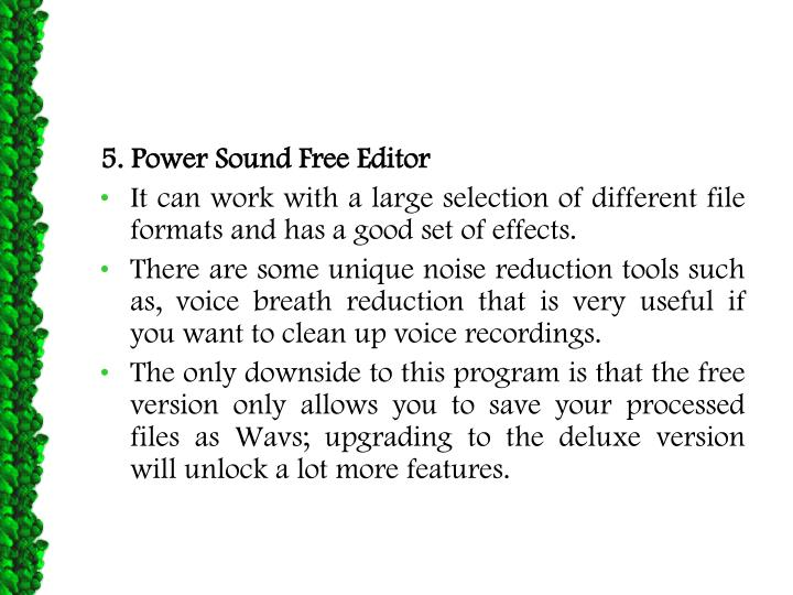 5. Power Sound Free Editor