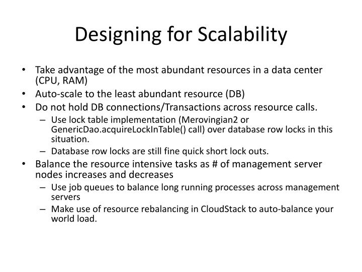 Designing for Scalability
