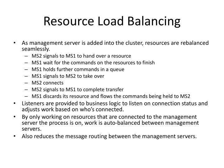 Resource Load Balancing