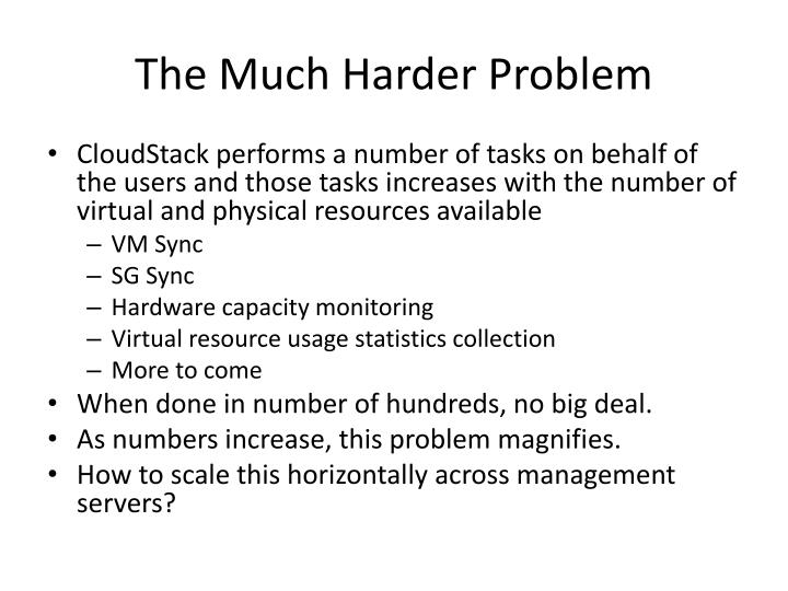 The Much Harder Problem