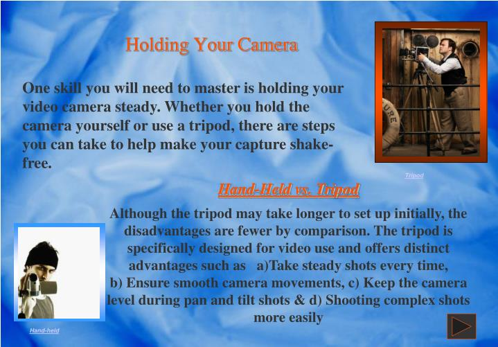 Holding Your Camera