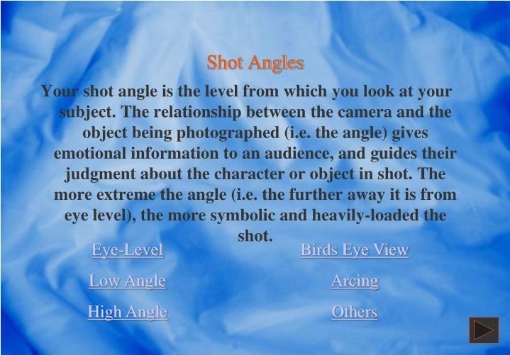 Shot Angles